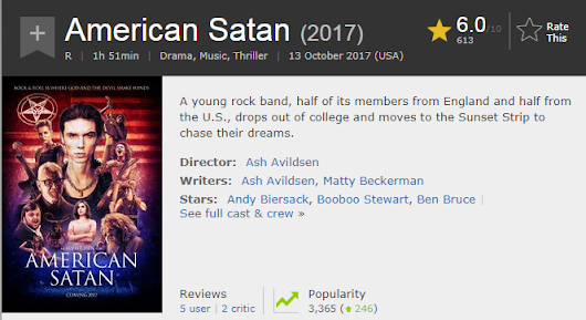 American Satan (movie) - 119 code - No spoilers