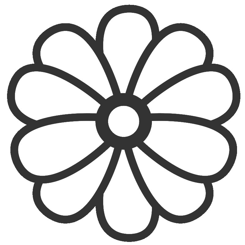 Big Flower Coloring Pages - Flower Coloring Page