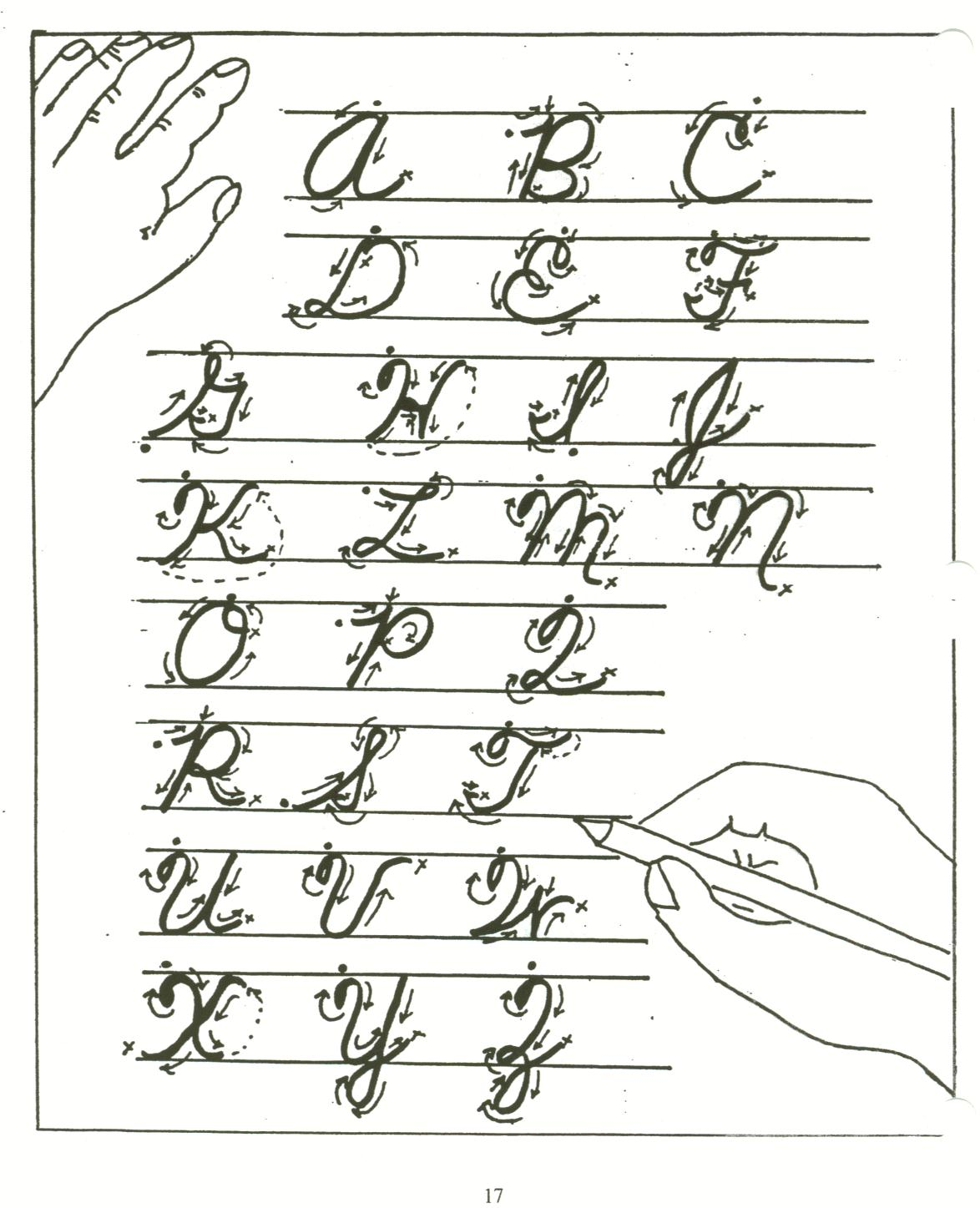 All Cursive Letters Worksheets 3rd Grade   Printable Worksheets and  Activities for Teachers [ 1447 x 1174 Pixel ]