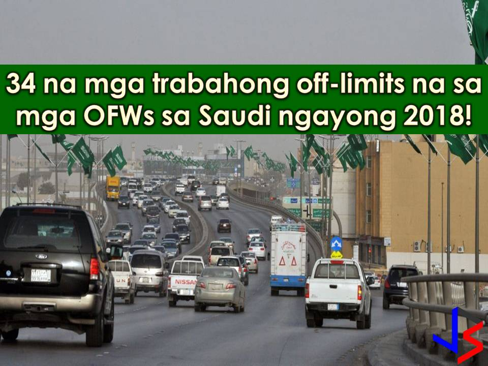 For a decade, the Kingdom of Saudi Arabia is the top destination of Overseas Filipino Workers (OFWs) and other expatriate workers around the world. This 2018 the Kingdom is imposing major economic overhaul to reduce its dependence on oil revenues. Hence, five percent of Value Added Tax (VAT) is implemented that greatly affects expat workers together with the OFWs. Nowadays, VAT is not only affecting OFWs in Saudi Arabia, but they are also affected by the Saudization where foreign workers are no longer accepted in certain jobs or professions that are now reserved for Saudi citizen only. It is reported that by the end of 2018 many sectors will be fully Saudized under the campaign to replace at least 30,000 expats in Tourism, retail stores, and shopping malls.