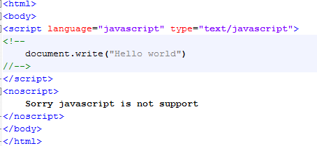 JavaScript – Enabling, Warning for Non-JavaScript Browsers