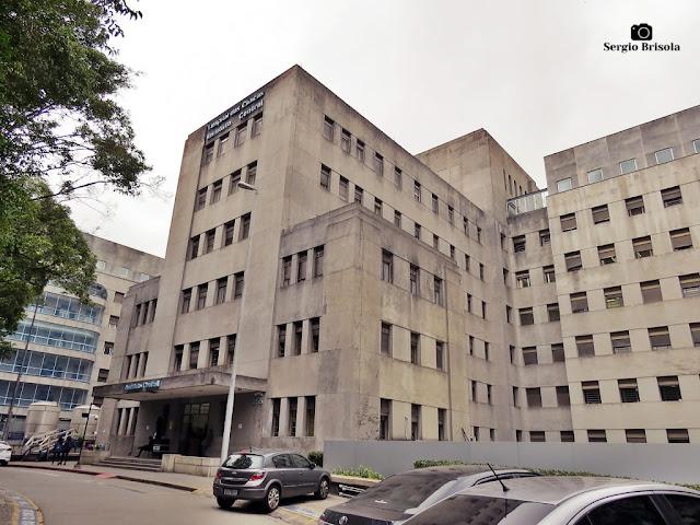 Vista ampla do Hospital das Clinicas - Instituto Central - Cerqueira César - São Paulo