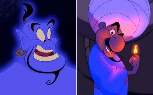 Aladdin Disney Personnages cinephagemaniac: dans aladdin de disney : le colporteur et le genie