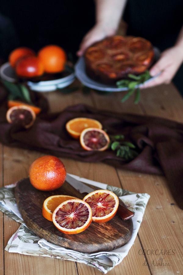 Bizcocho de Naranja y Almendra. Tarta Invertida. Cookcakes de Ainhoa
