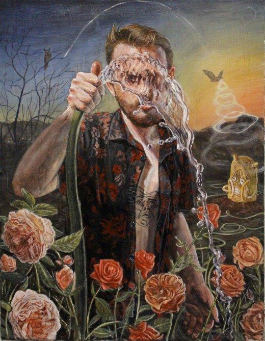 Trey Abdella arte pinturas surreais coloridas psicodélicas