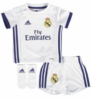 equipación bebes Real Madrid 2016 2017