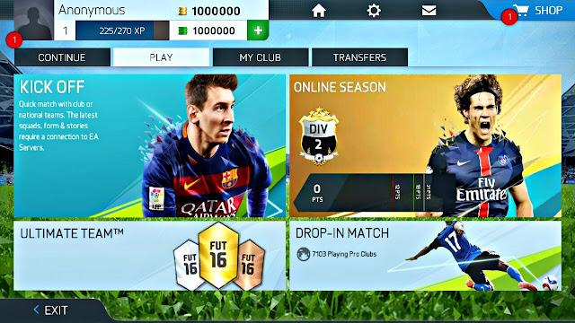 تحميل لعبة FIFA 16 الاصلية للاندرويد اوفلاين جرافيكس خرافي (بدون نت)
