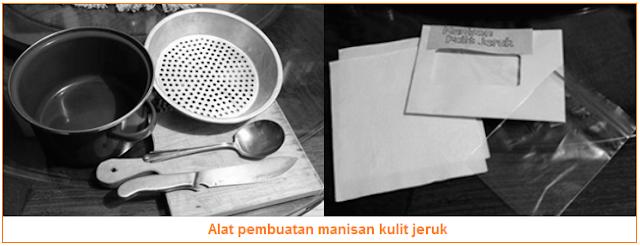 Alat pembuatan manisan kulit jeruk