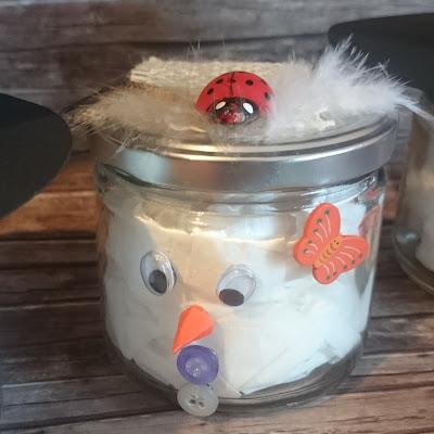[DIY] Schneemann und Schneefrau im Glas // Glass Snowman and Snowwoman