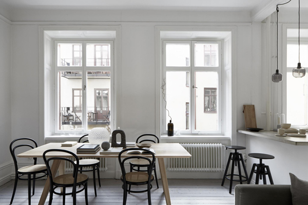A serene scandinavian apartment for sale, via http://www.scandinavianlovesong.com/