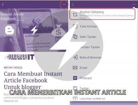 Cara Menerbitkan Instant Article Facebook