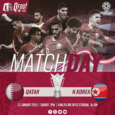 North Korea vs Qatar Live Streaming AFC 2019 (13.1.2019)