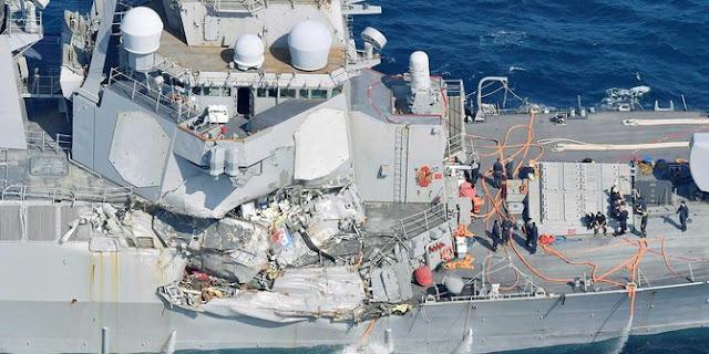 Kapal USS Fritzgerald Bertabrakan Dengan Kapal ACX Crystal