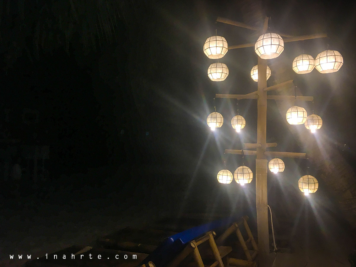 Evening lights at Boracay Beachside