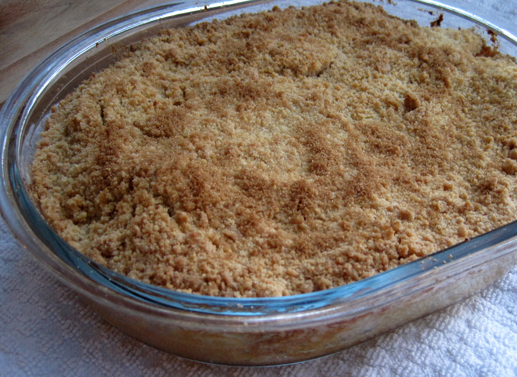 Apple Crumble out of the oven