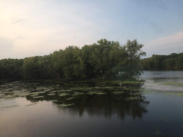 Tranquil scenery in Minnesota viewed from the Empire Builder.