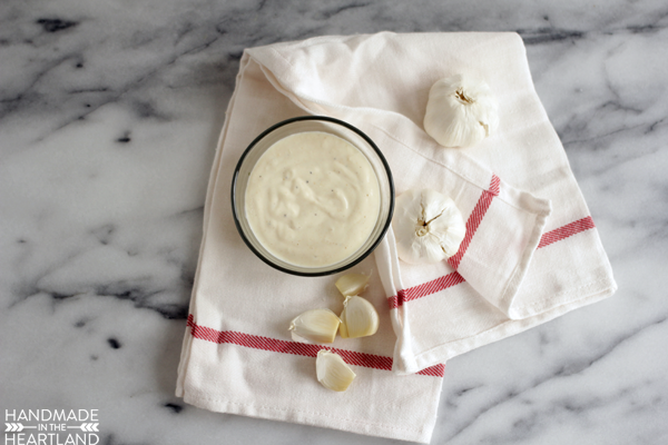 Make your own garlic aioli