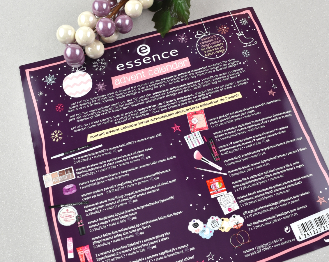 essence Adventskalender 2016 Inhalt