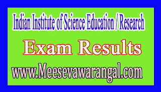 Indian Institute of Science Education / Research Mohali Ph.D Programme Mathematical Sci Jan 2017 Exam Results