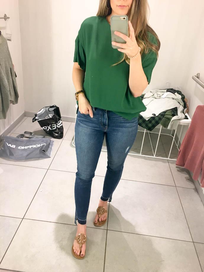 h&m creped top, fall outfit 2017, amanda sumner, the girlish blog, girl(ish), sc fashion blogger