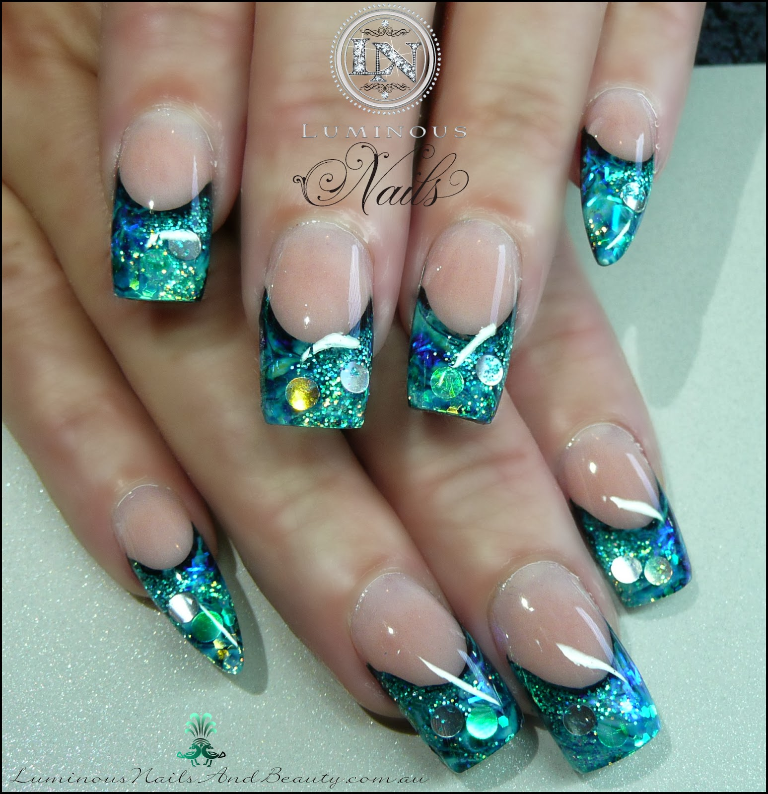Nice Foil Acrylic Nails Ideas - Nail Art Design Ideas ...