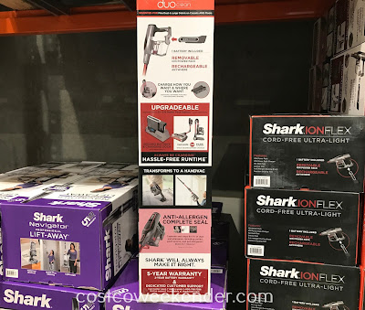 Shark Ion Flex Cord-free Vacuum: vacuum or park anywhere while the second battery charges