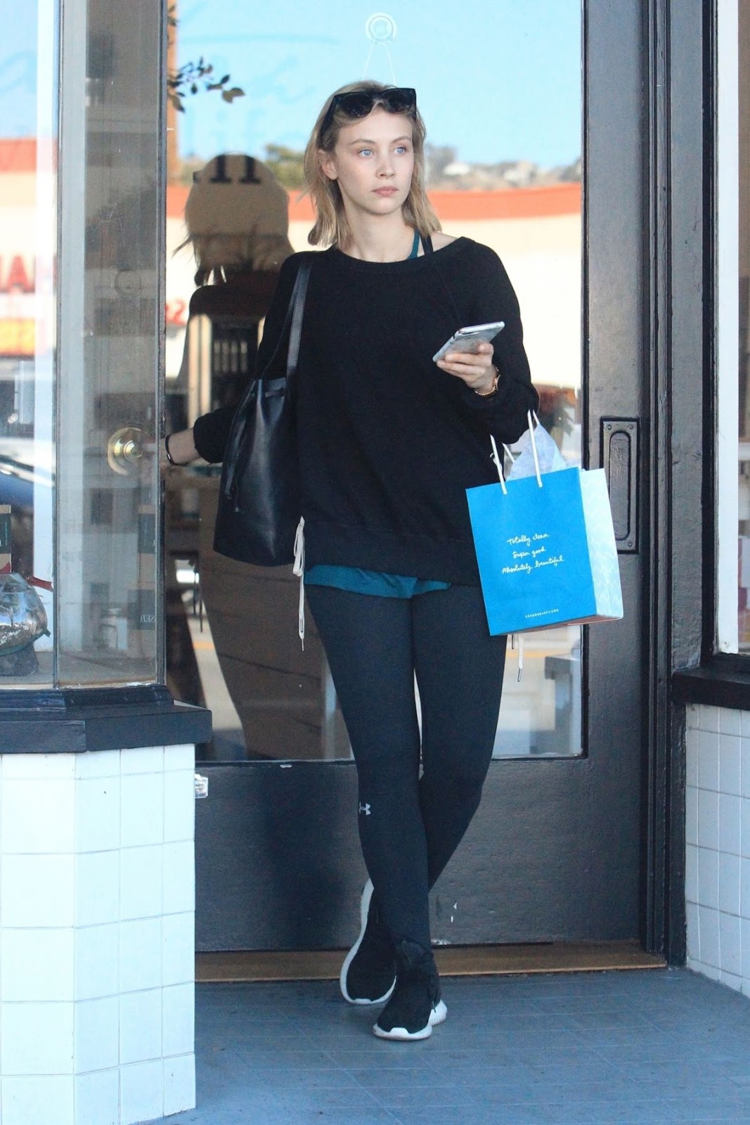 Sarah Gadon out for Shopping in Hollywood
