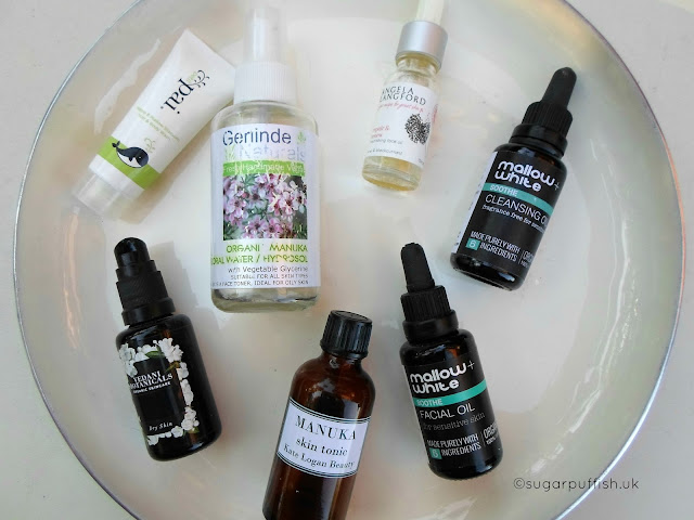 Empties for August 2016 Natural and Organic Skincare