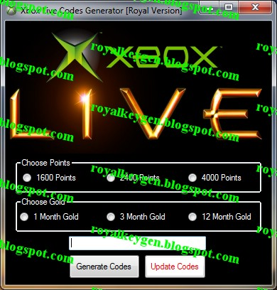 Royal Cheats: Xbox Live Codes Generator [FREE] [2013]