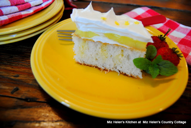 Lemon Ice Box Pudding Cake at Miz Helen's Kitchen