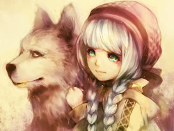 anime cute wolf policy nayu wolves kawaii eyes pretty manga hair posts pic long animals mostly huge fan they