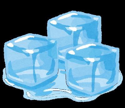 氷のイラスト「アイスキューブ」