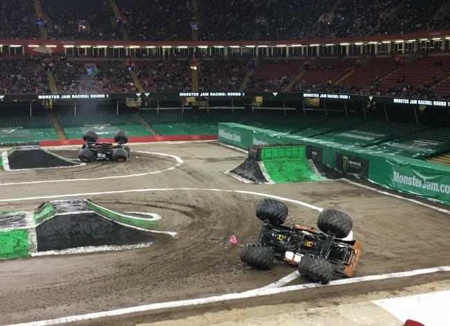 Monster-jam-principality-stadium-cardiff-cars-overturned