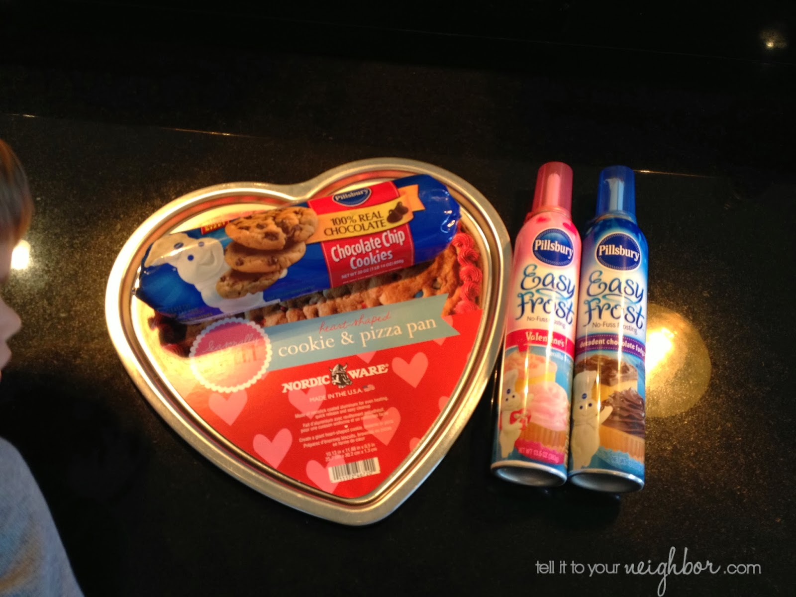 Tell It To Your Neighbor Cookie Cake Swedish Heart