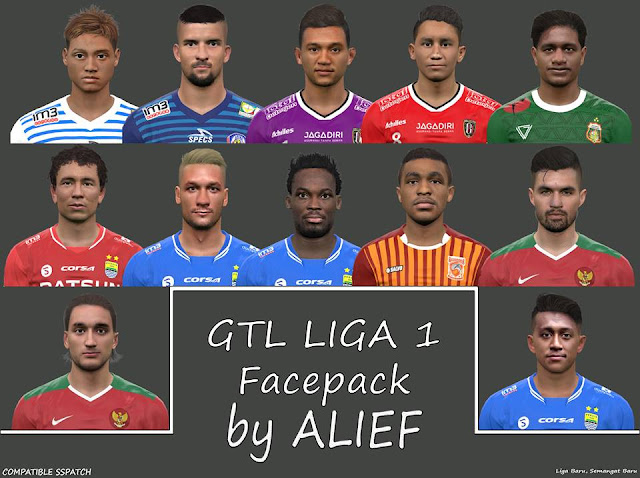 PES 2017 Go-Jek Traveloka Liga 1 Facepack dari Alief