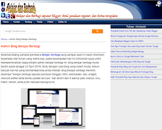 Template Blogger Seo Friendly