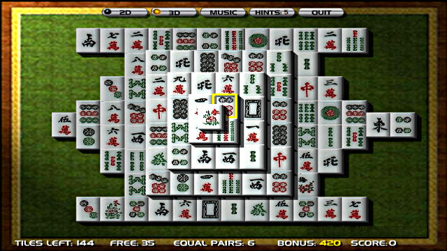 Mahjong 3D - Image du Jeu