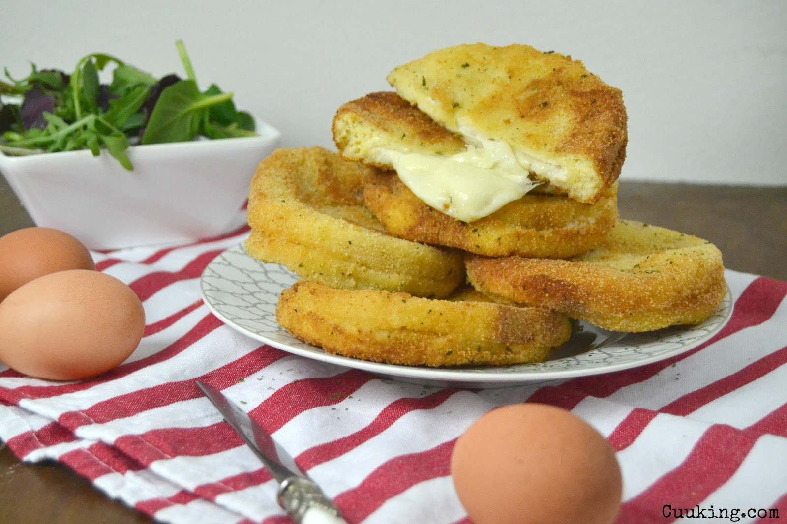 Mozzarella in carrozza receta italiana cuuking