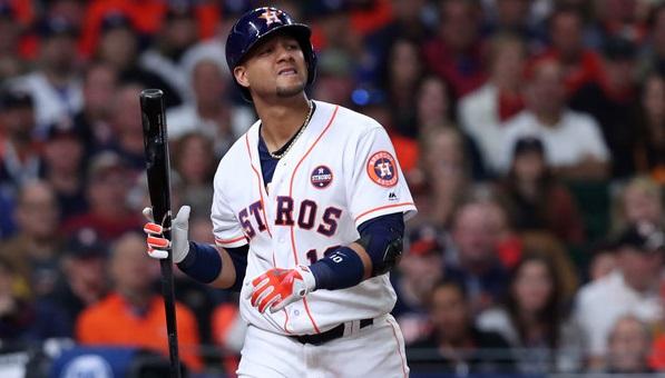 La temporada del cubano Yuli Gurriel puede terminar como uno de los años más raros en la producción de un bateador de .300 para los Astros de Houston