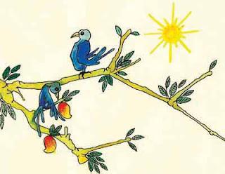 """""""Há dois pássaros, dois bons amigos, que habitam a mesma árvore do Ser. Um se alimenta dos frutos desta árvore; o outro apenas observa em silêncio."""" (Ṛigveda 1.164.20)"""