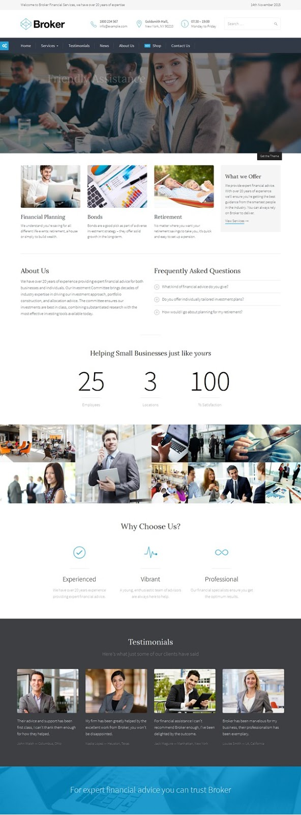 Best WordPress Theme for Financial Websites