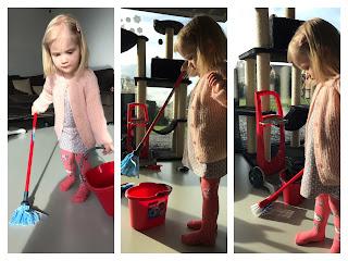 Vileda speelgoed schoonmaakkarretje