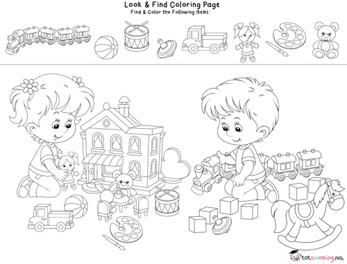 Look & Find Coloring Pages for Facebook Fans