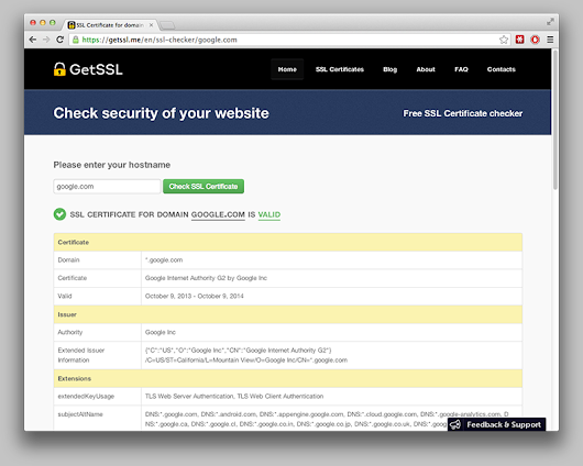 Check your SSL Certificate