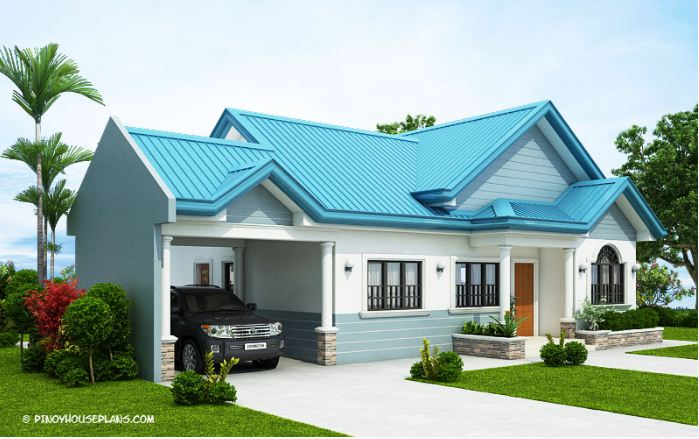 This Single Story House Bungalow Plan Is A Perfect Choice For Family With Five To Six Members It Has Three Bedroom And Two Bathroom Total