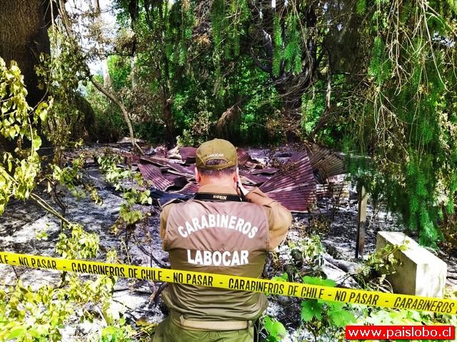 Incendio en la comuna de Panguipulli es investigado por Carabineros