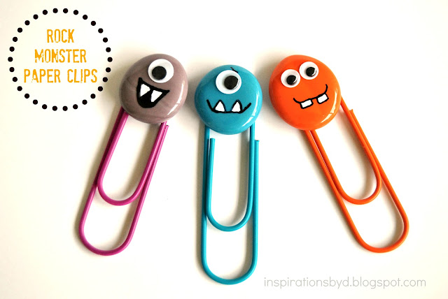 DIY: Rock Monster Paper Clips
