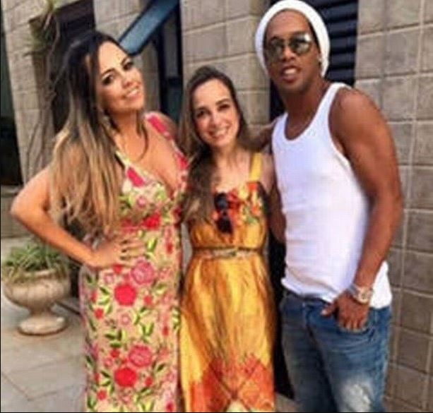 I'm not even marrying one woman! Ronaldinho denies he's about to walk down the aisle with his 'two girlfriends'