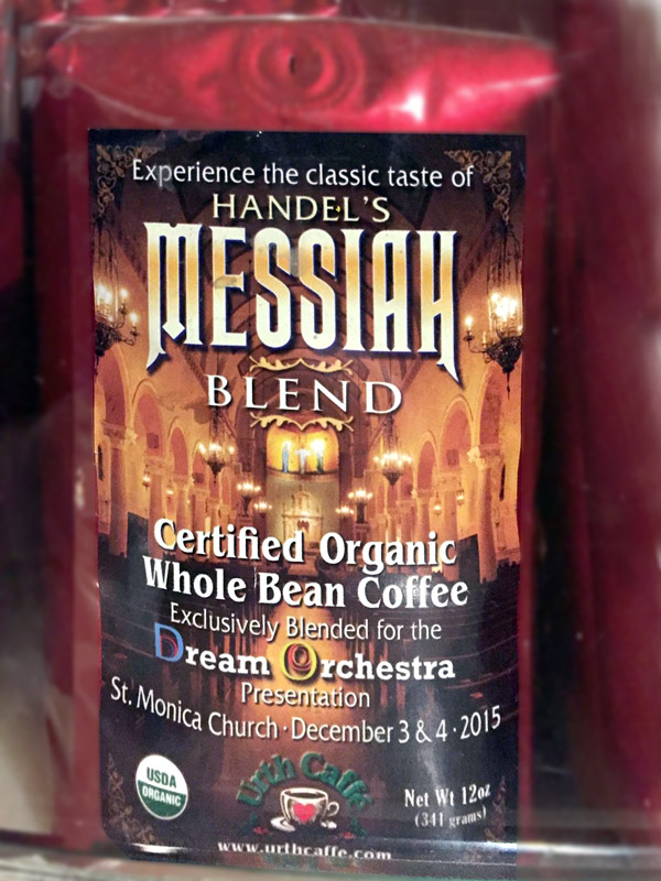 Musical terms in the marketplace - Handel's Messiah Blend coffee
