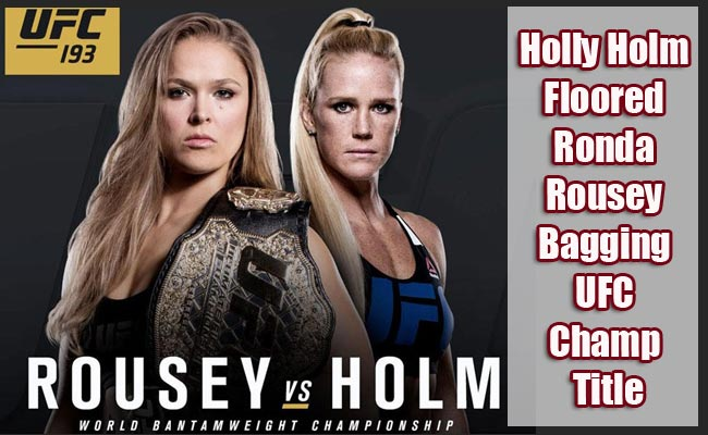 HollyHolm Floored Ronda Rousey Bagging UFC Champ Title